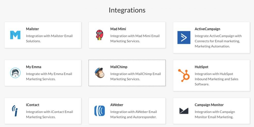 Exit Popup - intégration newsletter MailChimp