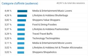 Créer son audience cible web via Google Analytics