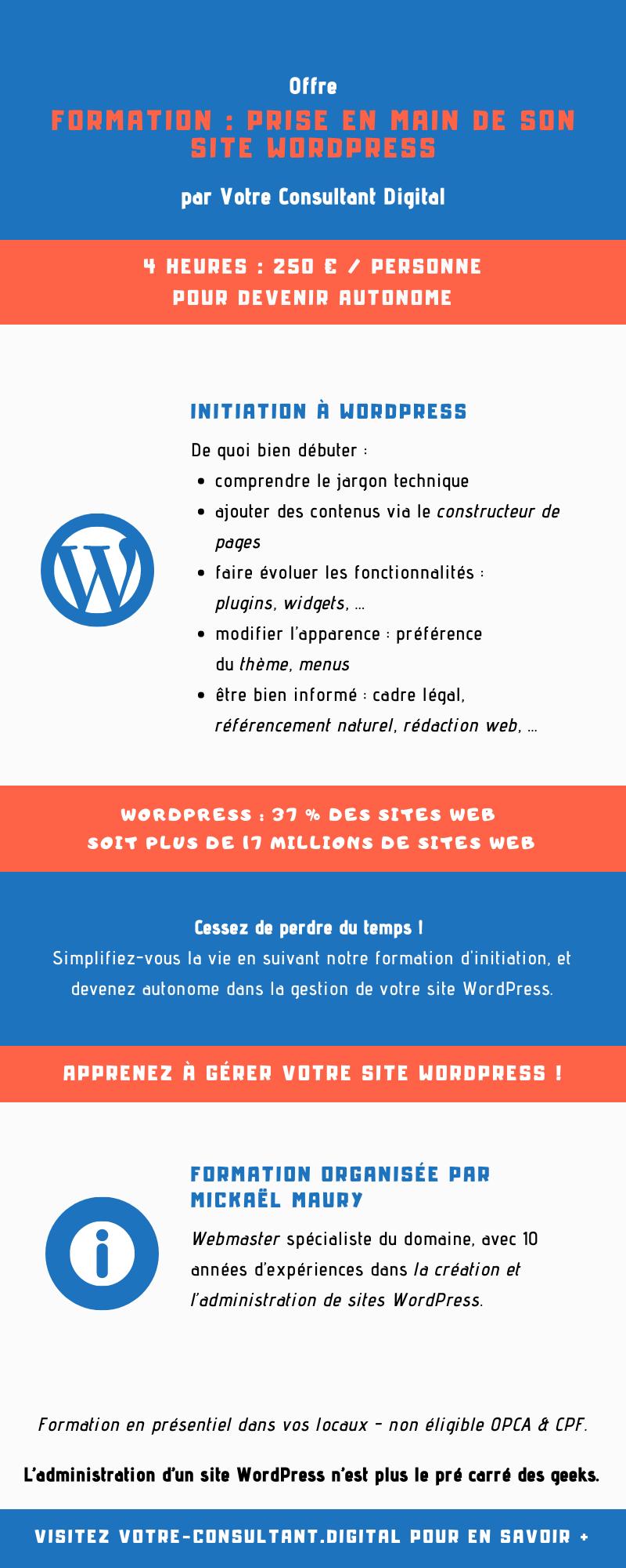 Formation : prise en main de son site WordPress